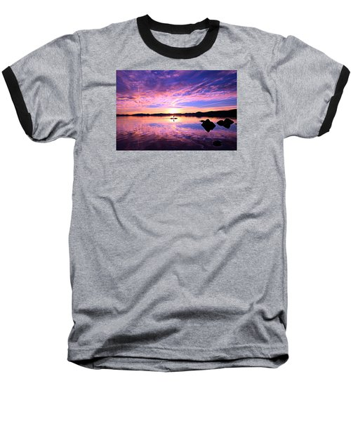 Sunset Supper Baseball T-Shirt by Sean Sarsfield
