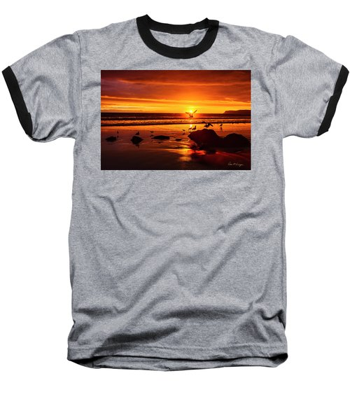 Sunset Surprise Baseball T-Shirt