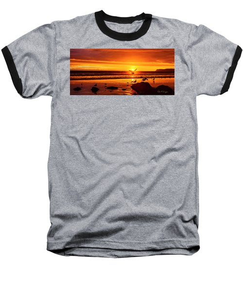 Sunset Surprise Pano Baseball T-Shirt