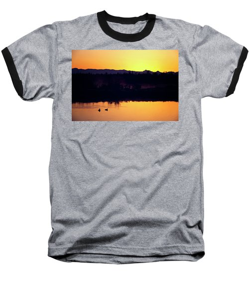 Sunset Swim Baseball T-Shirt