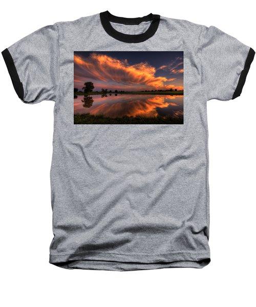 Sunset Symmetry Baseball T-Shirt