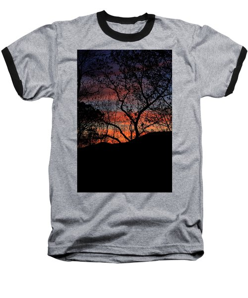 Baseball T-Shirt featuring the photograph Sunset by Tammy Schneider