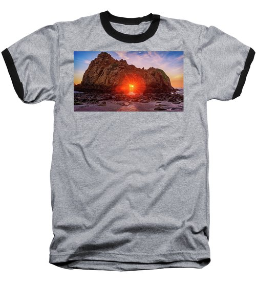Sunset Through  Baseball T-Shirt
