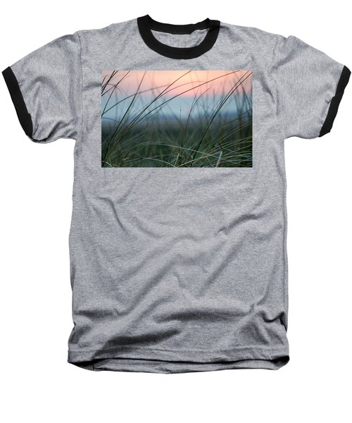 Sunset  Through The Marsh Grass Baseball T-Shirt by Spikey Mouse Photography