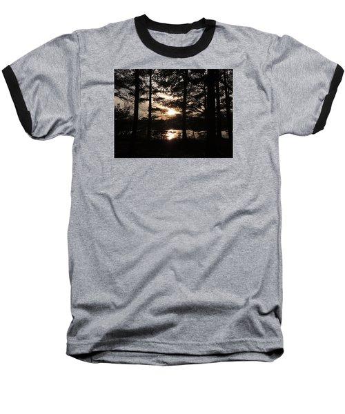 Sunset Through The Pines Baseball T-Shirt