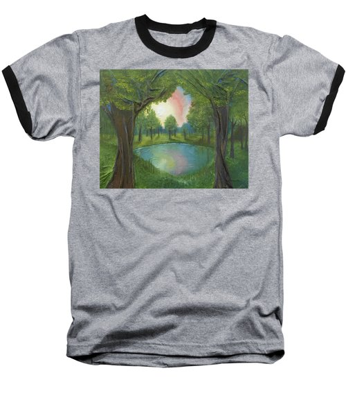 Sunset Through Trees Baseball T-Shirt
