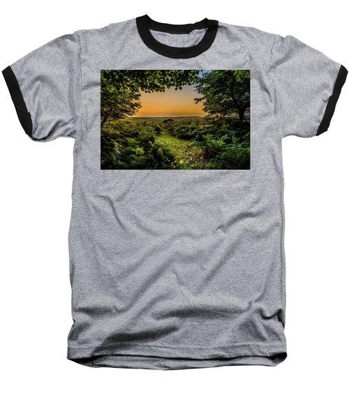 Sunset Through Trees Baseball T-Shirt