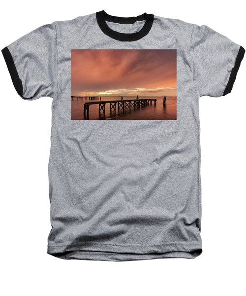 Sunset Thru Storm Clouds Baseball T-Shirt