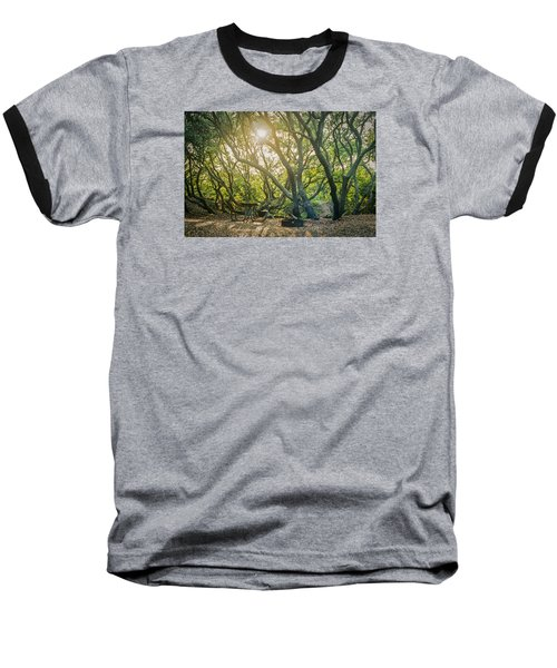 Sunset Thru The Trees Baseball T-Shirt by Scott Meyer
