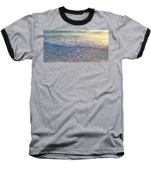 Sunset Tide Baseball T-Shirt by Ginny Schmidt