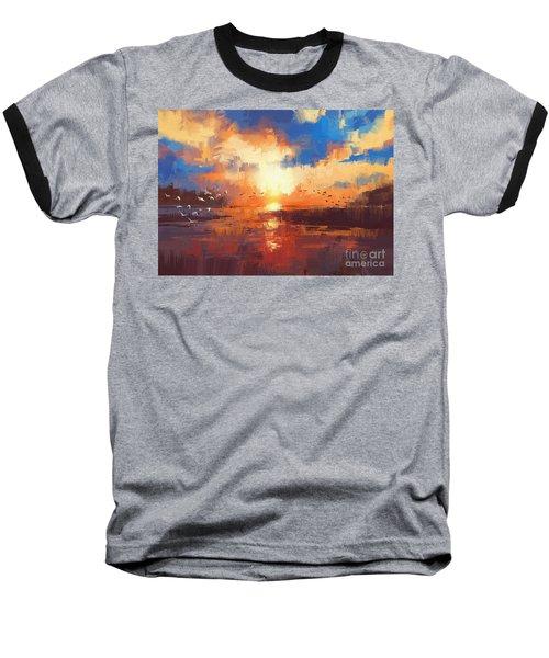 Sunset Baseball T-Shirt