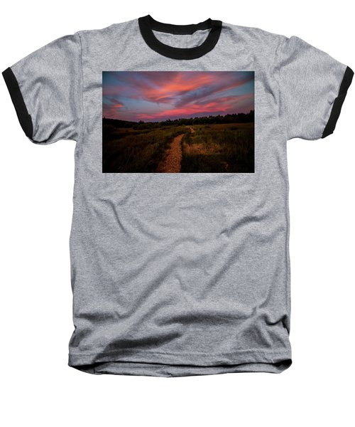 Sunset Trail Walk Baseball T-Shirt