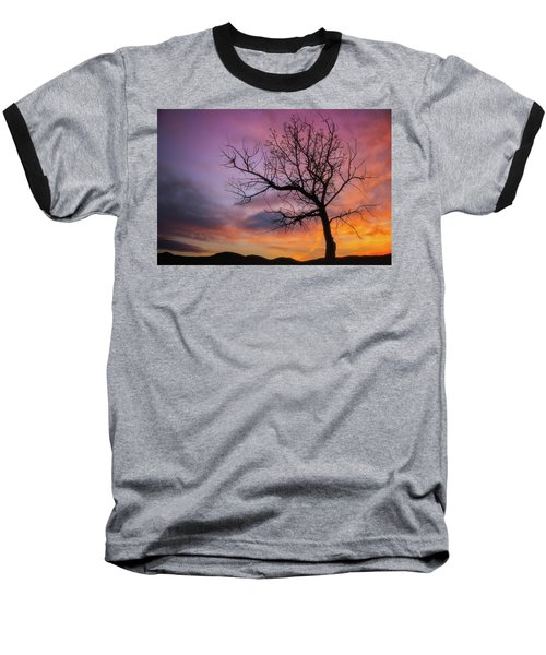 Baseball T-Shirt featuring the photograph Sunset Tree by Darren White