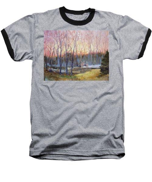 Sunset Trees Baseball T-Shirt