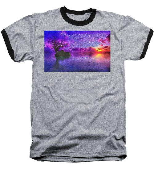 Sunset Tribute To Van Gogh Baseball T-Shirt