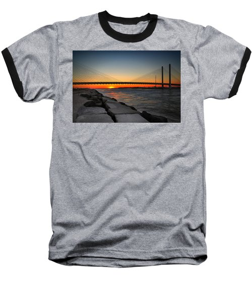 Sunset Under The Indian River Inlet Bridge Baseball T-Shirt