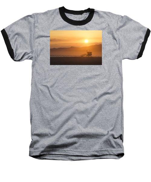 Sunset Venice Beach  Baseball T-Shirt