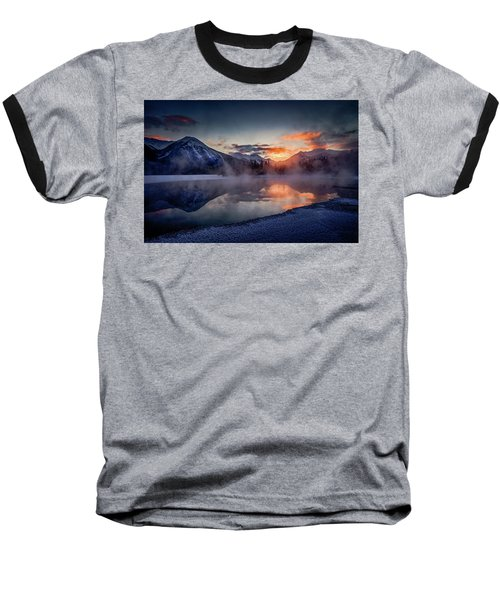 Sunset, Vermilion Lakes Baseball T-Shirt