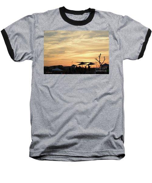 Baseball T-Shirt featuring the photograph Sunset View by Arik Baltinester