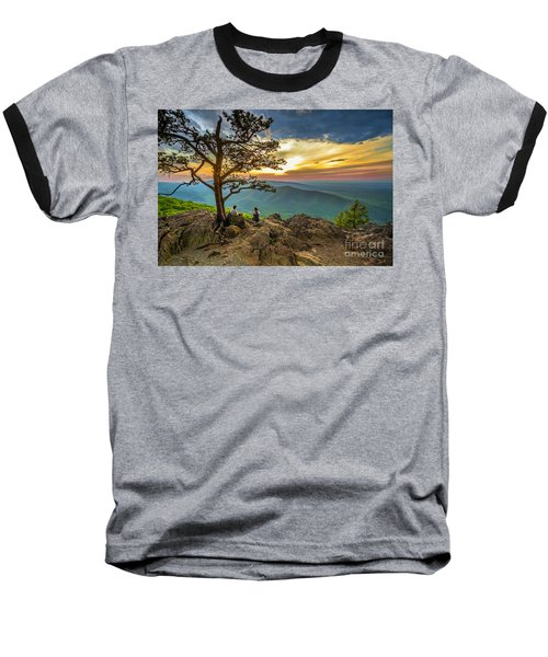 Sunset View At Ravens Roost Baseball T-Shirt