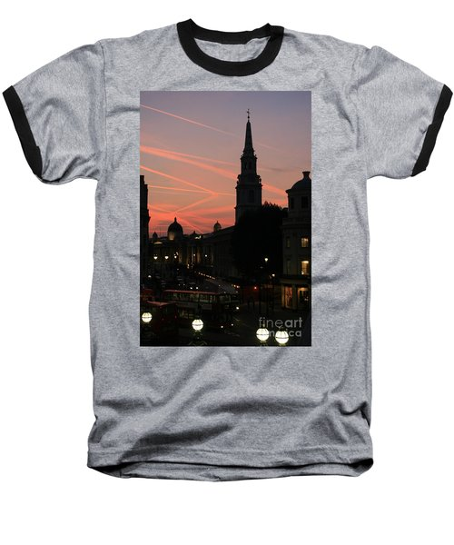 Baseball T-Shirt featuring the photograph Sunset View From Charing Cross  by Paula Guttilla