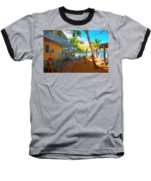 Sunset Villas Patio Baseball T-Shirt