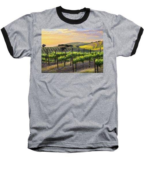 Sunset Vineyard Baseball T-Shirt