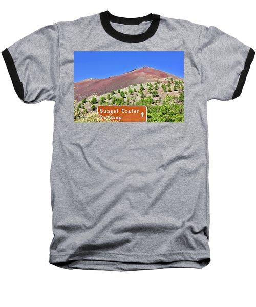 Sunset Crater Volcano Baseball T-Shirt