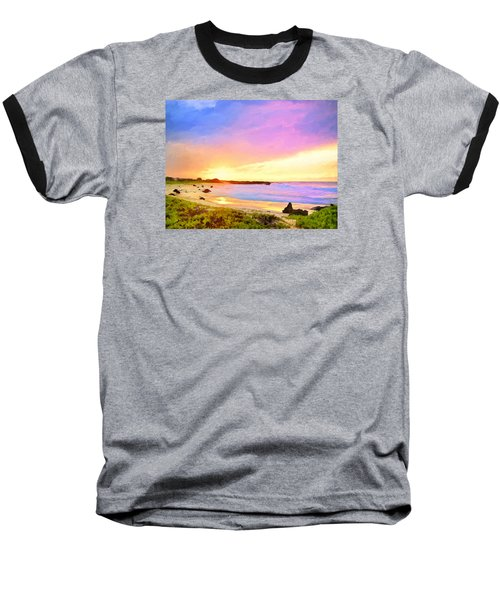 Sunset Walk Baseball T-Shirt by Dominic Piperata