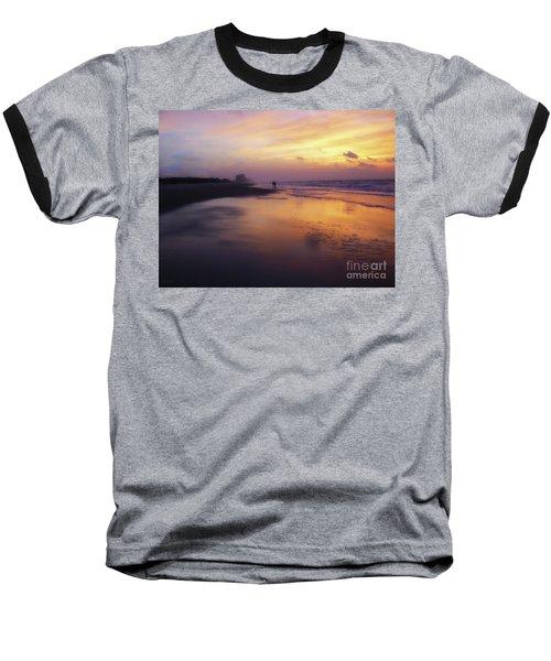 Sunset Walk On Myrtle Beach Baseball T-Shirt