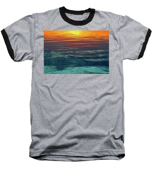 Sunset Water  Baseball T-Shirt