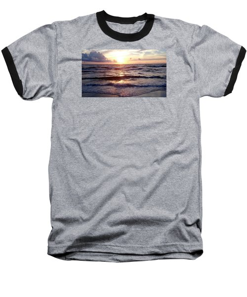 Sunset Waves 1 Baseball T-Shirt