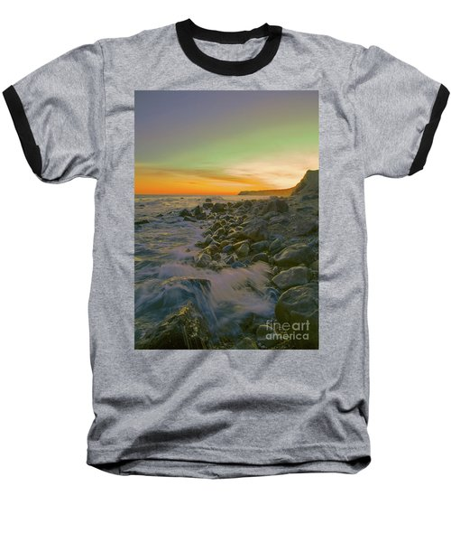 Sunset Waves Baseball T-Shirt by Todd Breitling