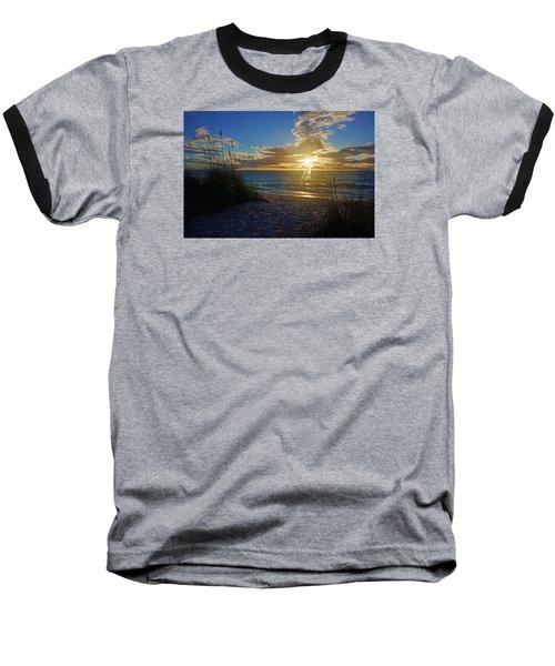 Baseball T-Shirt featuring the photograph Sunset Windsurfer by Robb Stan