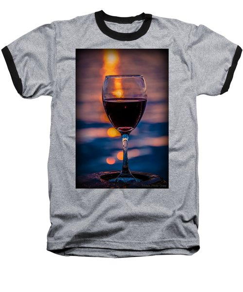 Sunset Wine Baseball T-Shirt