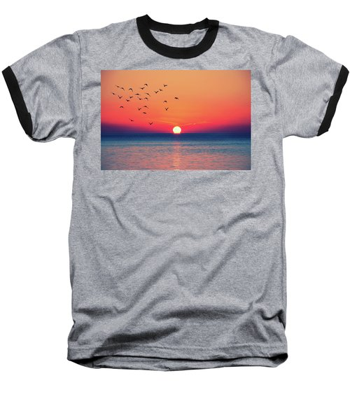Sunset Wishes Baseball T-Shirt