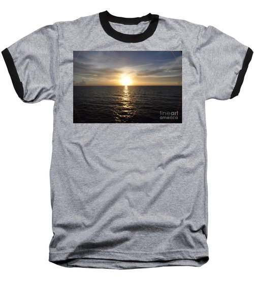 Baseball T-Shirt featuring the photograph Sunset With Halo by John Black