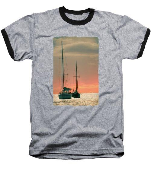Sunset Yachts Baseball T-Shirt by Konstantin Sevostyanov