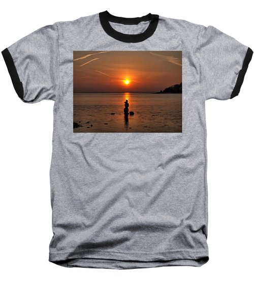 Sunset Zen Baseball T-Shirt