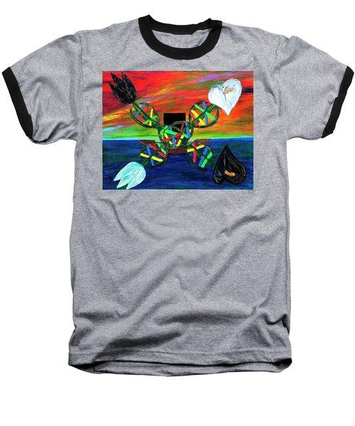 Sunseth In Atlantis Baseball T-Shirt