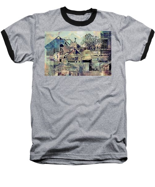 Baseball T-Shirt featuring the digital art Sunsets And Blue Point Collage by Susan Stone