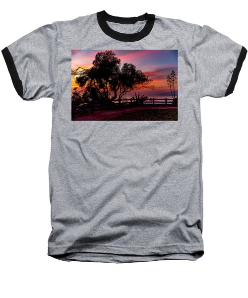 Sunset Silhouettes From Palisades Park Baseball T-Shirt
