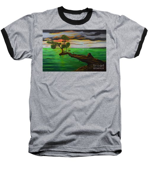 Sunsetting Baseball T-Shirt by Melvin Turner