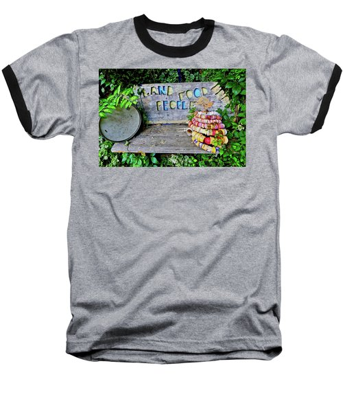 Baseball T-Shirt featuring the painting Sunshine Bench by Joan Reese