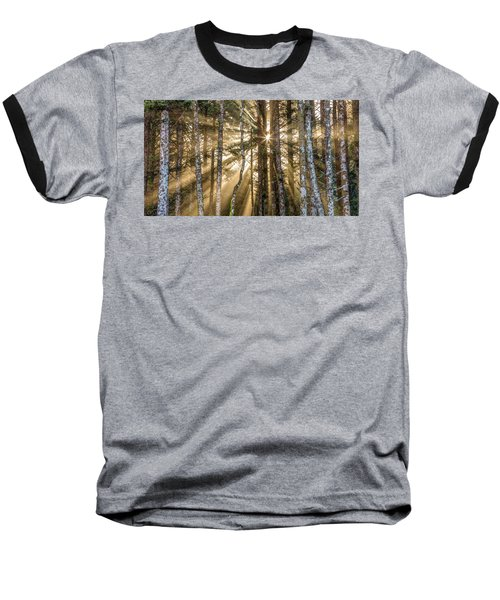 Sunshine Forest Baseball T-Shirt by Pierre Leclerc Photography