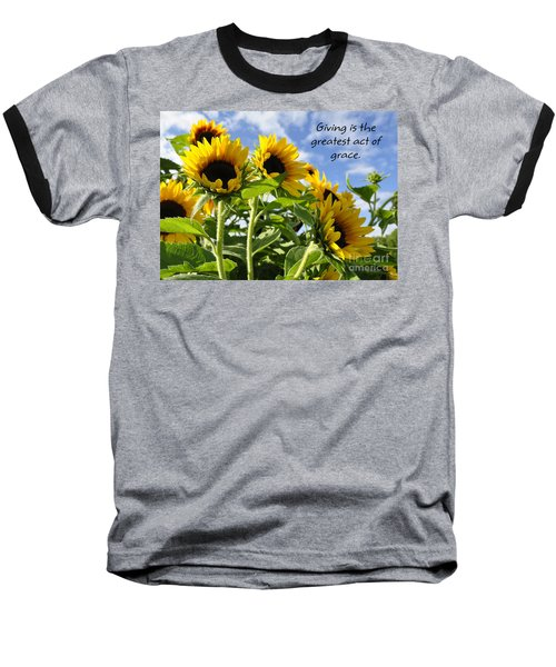 Baseball T-Shirt featuring the photograph Sunshine Lollipops Grace by Diane E Berry