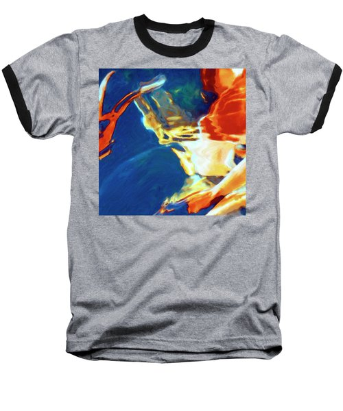 Baseball T-Shirt featuring the painting Sunspot by Dominic Piperata