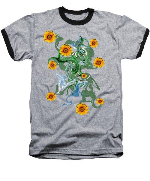 Sunspots Baseball T-Shirt by David and Lynn Keller