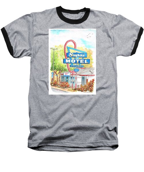 Supai Motel In Route 66, Seliman, Arizona Baseball T-Shirt