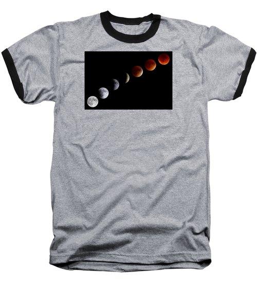 Super Blood Moon Eclipse Baseball T-Shirt by Brian Caldwell